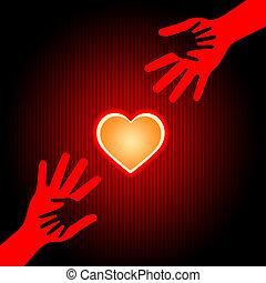 情愛が深い, 手段, バレンタイン, 手を持つ, 日