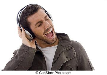 情熱的である, 光景, 音楽, 人, 側