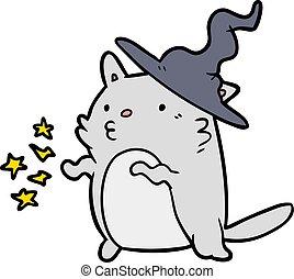 惊人, 巫術師, 不可思議, 卡通, 貓