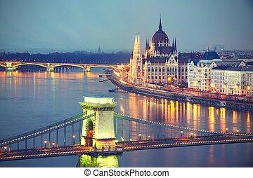 惊人, 黄昏, 布达佩斯