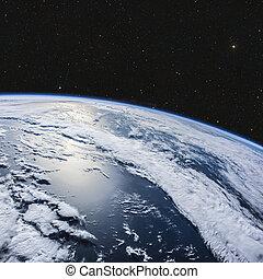 惑星地球, から, スペース