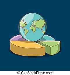 惑星地球, パイ・チャート