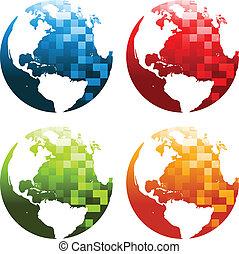 惑星地球, ピクセル, アイコン