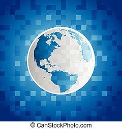 惑星地球, ピクセル