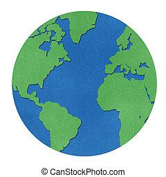 惑星地球, リサイクルされる, papercraft.