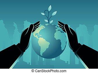 惑星地球, 手, カバー