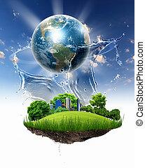 惑星地球, 緑の風景, 自然