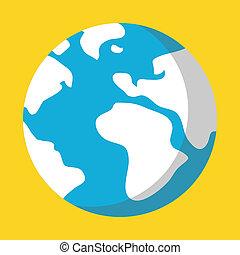 惑星, アイコン, 地球, ベクトル