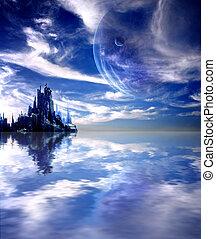 惑星, ファンタジー, 風景