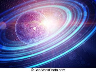 惑星, リング, 同心である, 空地