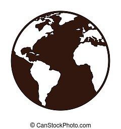 惑星, 世界, 地球地図