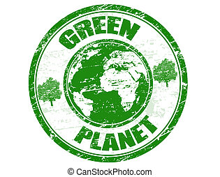 惑星, 切手, 緑