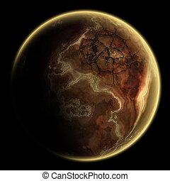 惑星, 単一, 銀河, 海原