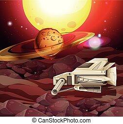 惑星, 現場, 背景, 宇宙船