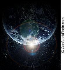 惑星, 現実的, 地球, スペース