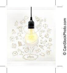 想法, 事務, infographics