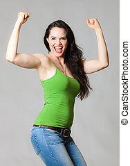 愉快的婦女, 屈曲肌肉