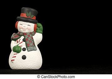 愉快, 冬天, 雪人