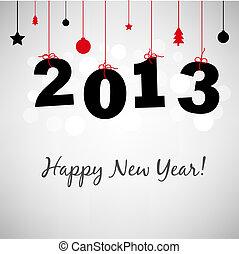 愉快, 新年, 卡片