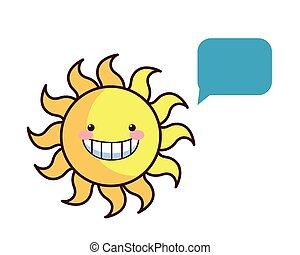 愉快, 暑假, 太陽