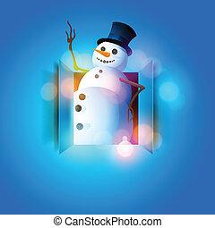 愉快, 雪人