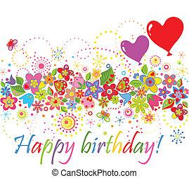 愉快, birthday!