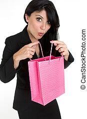 意味深長, 女性買い物, 袋
