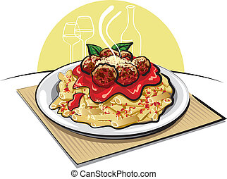 意大利面制品調味料, 肉團