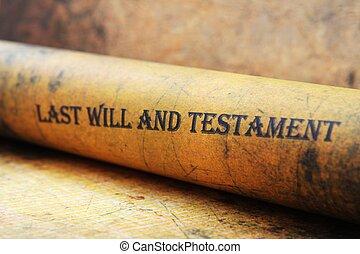 意志, 新約聖書, 最後
