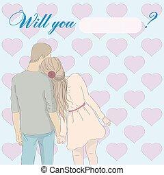 意志, card:, あなた, 結婚しなさい, me?