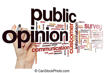 意見, 単語, 公衆, 雲