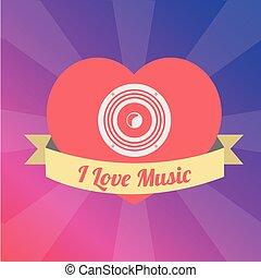 愛の色, 上に, イラスト, バッフル, 音楽, 背景