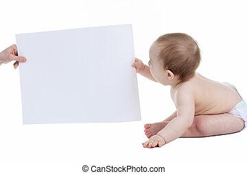 愛らしい, ∥赤ん坊∥, ブランク, 広告, 旗