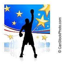 愛国心が強い, アメリカ人, ボクシング, 背景