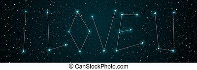 愛, あなた, 空, 夜