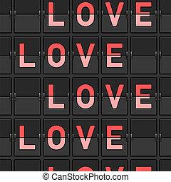 愛, とんぼ返り, 板