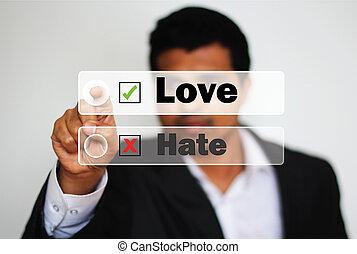 愛, に対して, 選択, 専門家, マレ, 憎悪