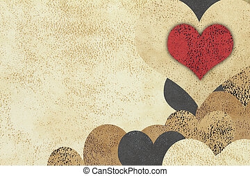 愛, グランジ, textured, 背景