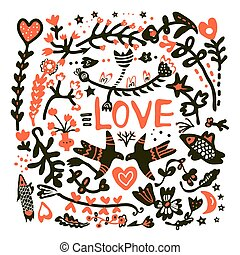 愛, グリーティングカード, 結婚式