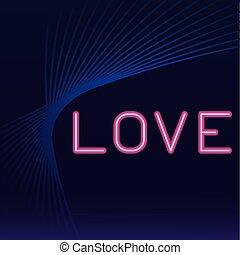 愛, ネオン, 広告