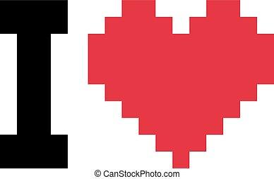 愛, ピクセル