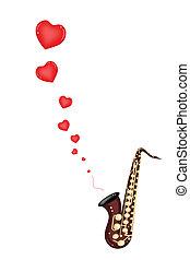 愛, ベース, 歌, ミュージカル, サクソフォーン, 遊び