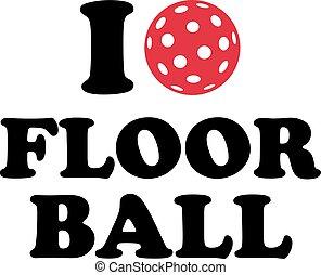 愛, ボール, floorball
