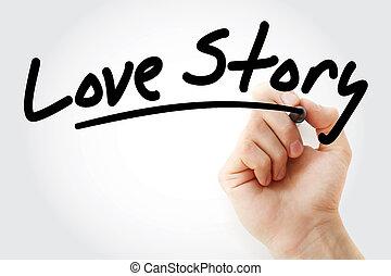愛, マーカー, 物語, 執筆, 手
