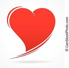 愛 中心, バレンタイン, 定型, ベクトル, 非対称的