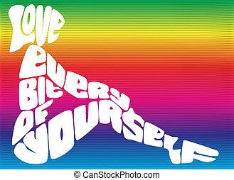 愛, 你自己