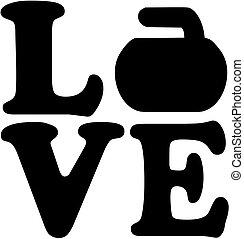 愛, 単語, カール, 岩