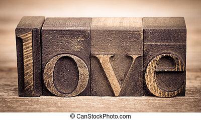 愛, 印刷ブロック