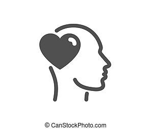 愛, 印。, business., ベクトル, icon., 友情, 援助, 友人