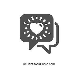 愛, 友情, 印。, business., ベクトル, チャット, icon., 友人, 援助